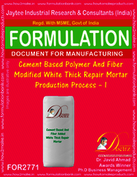 Cement Based Polymer & Fiber Modified White Thick Repair Mortar – I