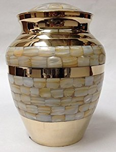 Metal Brass M.O.P Cremation Urn Funeral Supplies