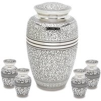 Silver Leaf Classic Urn With Token