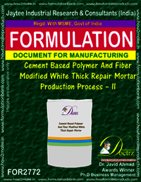Cement Based Polymer & Fiber Modified White Thick Repair Mortar – II