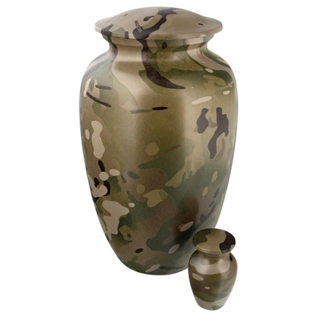 Camouflage Adult Metal Classic Urn