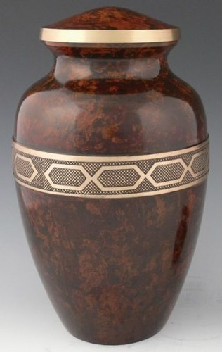 Gold Ribbon Alloy Textured Urn