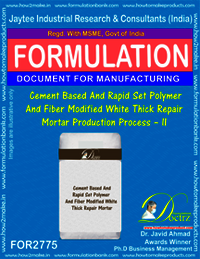Cement Based & Rapid Set Polymer And Fiber Modified White Thick Repair Mortar-II