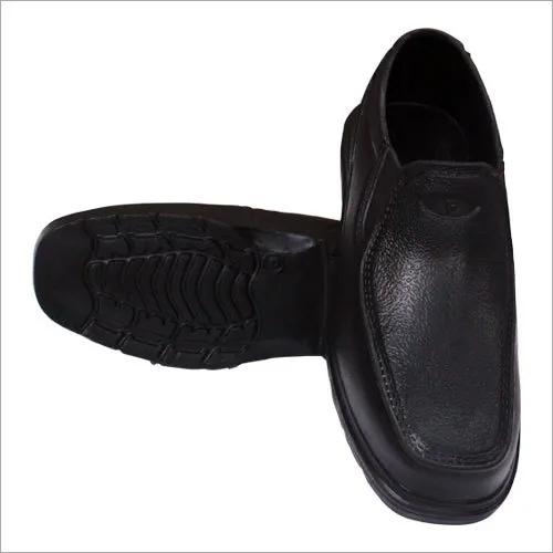 Mens Black Plain Shoes