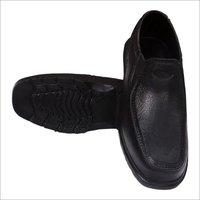 Mens Black Eva Plain Shoes