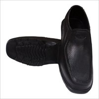 Mens Black Plain Shoes