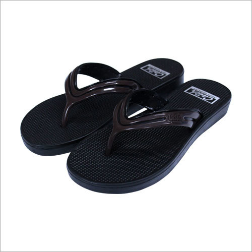 Black Plain EVA Slipper