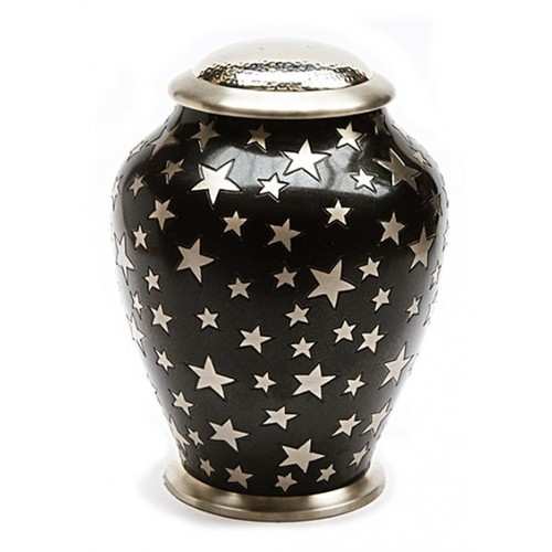 Aria Star Black Cremation Urn