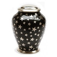 Aria Star Black Cremation Urn