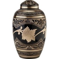 Black Toledo Brass Metal Cremation Urn