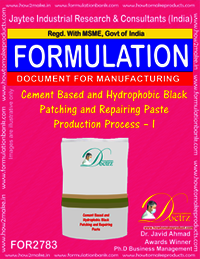 Cement Based And Hydrophobic Black Patching and Repairing Paste Production Process – I