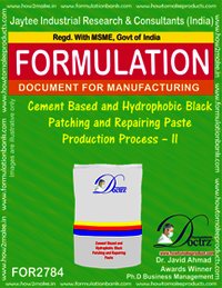 Cement Based And Hydrophobic Black Patching and Repairing Paste Production Process – II