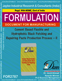 Cement Based Flexible And Hydrophobic Black Patching and Repairing Paste Production Process – II