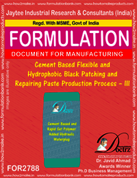 Cement Based Flexible And Hydrophobic Black Patching and Repairing Paste Production Process – III