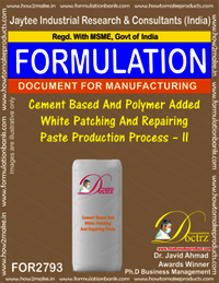 Cement Based And Polymer Added White Patching And Repairing Paste Production Process – II