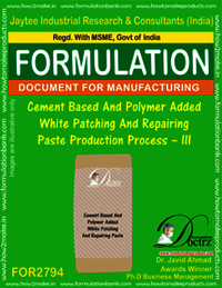 Cement Based And Polymer Added White Patching And Repairing Paste Production Process – III