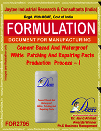 Cement Based And Waterproof White Patching And Repairing Paste Production Process – I