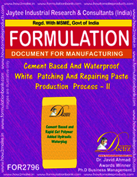 Cement Based And Waterproof White Patching And Repairing Paste Production Process – II