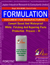 Cement Based And Waterproof White Patching And Repairing Paste Production Process – III