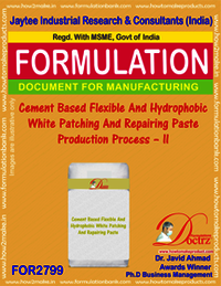 Cement Based Flexible And Hydrophobic White Patching And Repairing Paste Production Process – II
