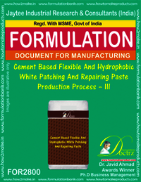 Cement Based Flexible And Hydrophobic White Patching And Repairing Paste Production Process – III