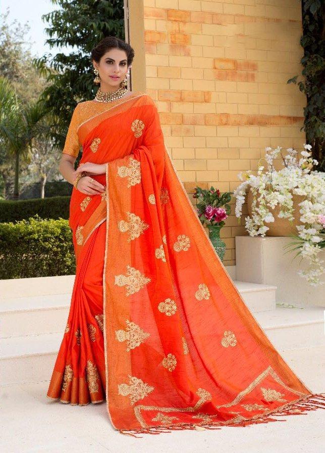 Mintorsi Glamorous Silk Saree Embroidery Sarees