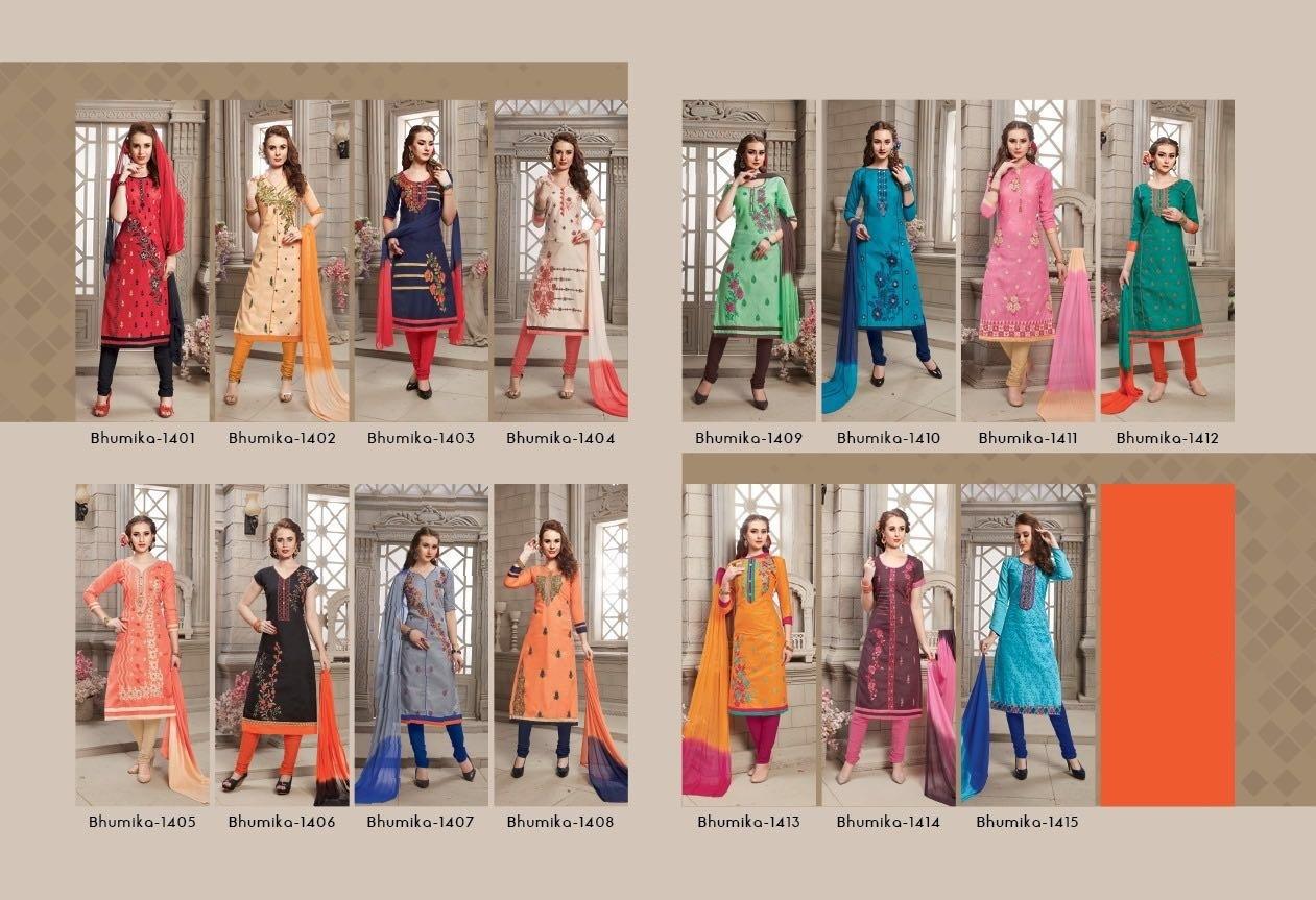 raheja bhumika 14 polycotton suits catalog