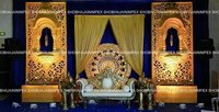 Medallion Theme Wedding stage