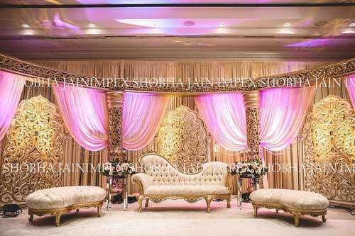 Jali Pillar Wedding Stage