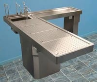 Autopsy Table (L-shaped work station)