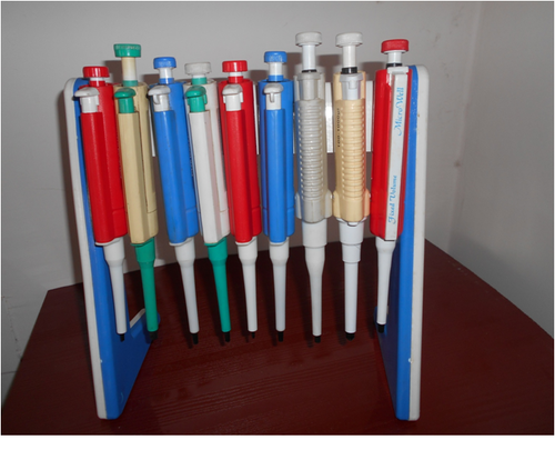 Micro pipette stand 1 with pipette