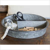 Galvanized Caddy with antique finish
