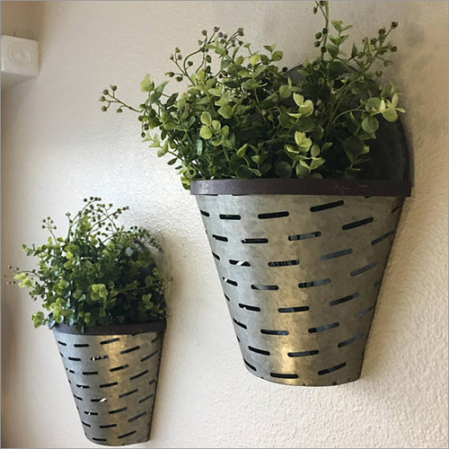 Galvanized Wall Hanging Vase