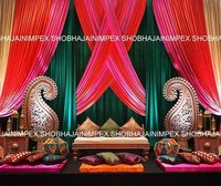 Drapes Sangeet Stage