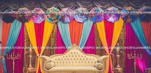 Punjabi Wedding Mehandi Umbrella Stage
