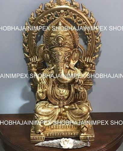 Golden Ganesh Statue for Wedding