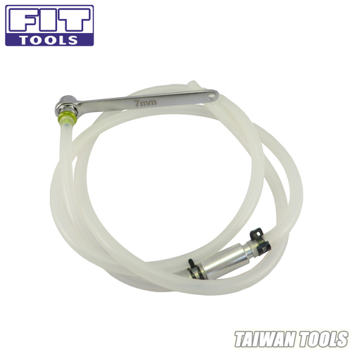 FIT TOOLS Mini 7mm Brake Fluid Clutch Bleeder Hose with 12 Point Wrench and Check Valve