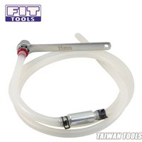 FIT TOOLS Mini 11mm Brake Fluid Clutch Bleeder Hose with 12 Point Wrench and Check Valve
