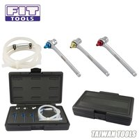FIT TOOLS Mini 8, 10, 11mm Brake Fluid Clutch Bleeder Hosewith 12 Point Wrench and Check Valve Kit
