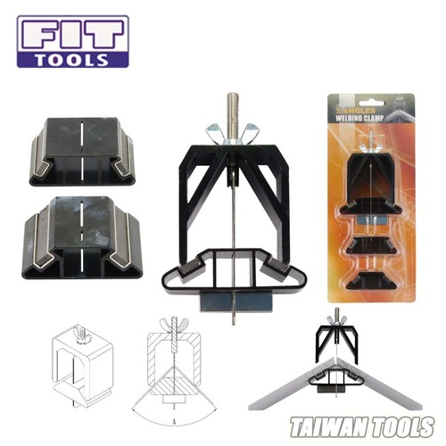 FIT TOOLS 3 Angles 60 90 120 Degree Sheet Metal Welding Clamp