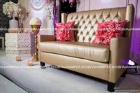 Brown Quilted Wedding Furniture