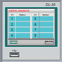 Dl 35 Hmi Screen Data Loggers