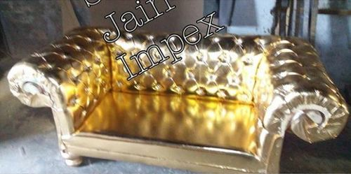 Golden Quilted Sofa