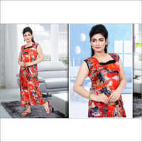 Ladies Designer Print Cotton Nighties