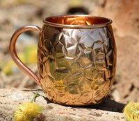 Copper Hammered Mug