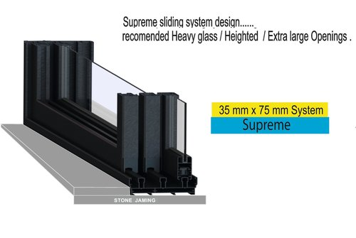 35 X 75 MM ITALIAN SUPREME MAAN THREE TRACK SLIDING WINDOW SYSTEM