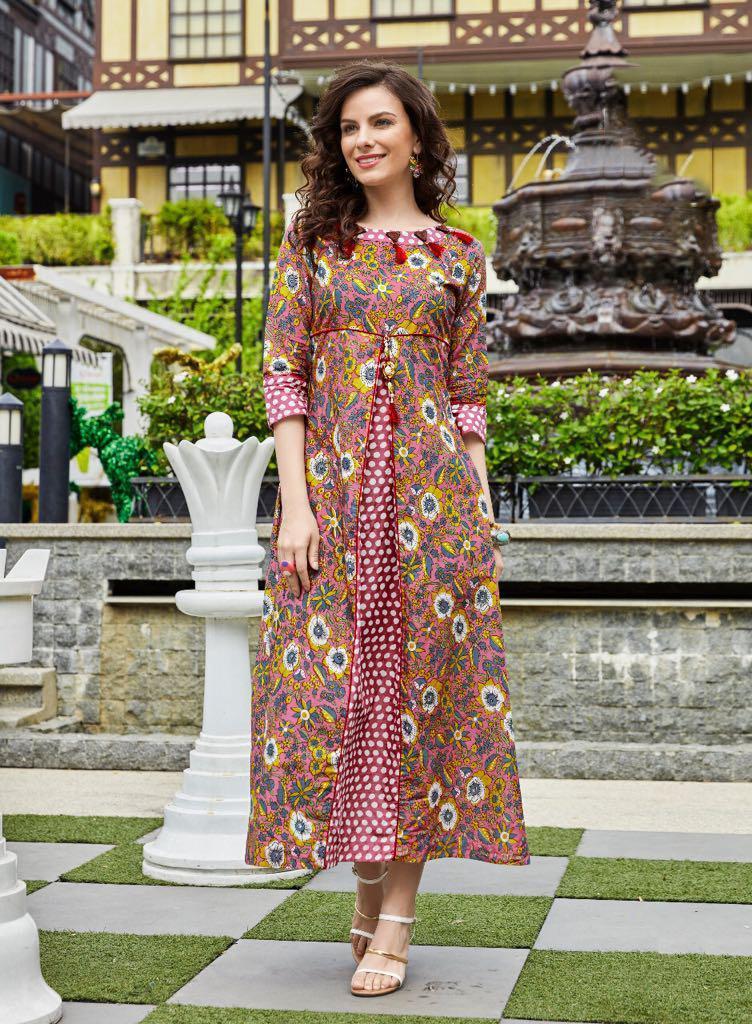 Kajal Style Kurti Moza Vol 2 Catalog Lawn Cotton