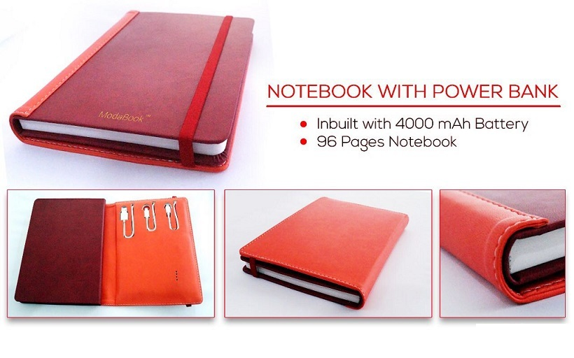 Organizer Tech Book with Power Bank and USB