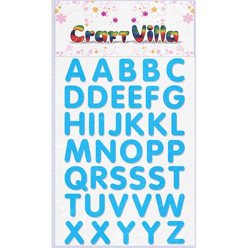 Craft Villa Small Card Big Alphabet Glitter Sticker