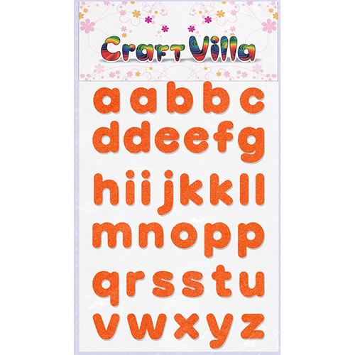 Craft Villa Small Card Small Alphabet Glitter Sticker